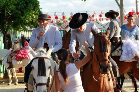 Una imagen de la Feria de Abril de Sevilla