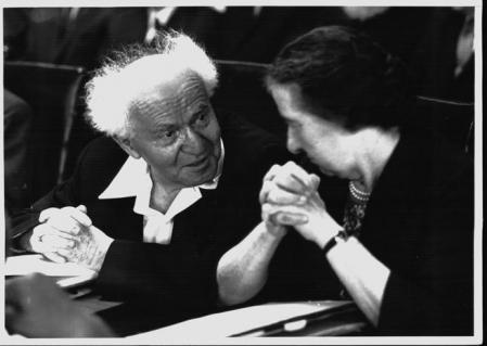CON GOLDA MEIR#@#BEN GURION , DAVID (1886-1974)