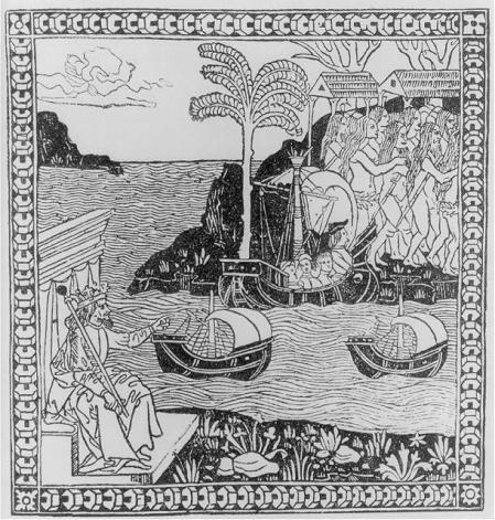 Ilustración de una de las cartas del año 1493 en que se anunciaba el descubrimiento de las Indias.