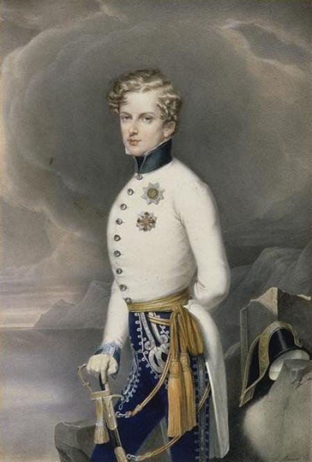 Napoleón II retratado como duque de Reichstadt.