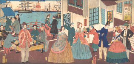Los extranjeros convivieron con los japoneses en los puertos comerciales, y la relación, al principio, no fue nada fácil