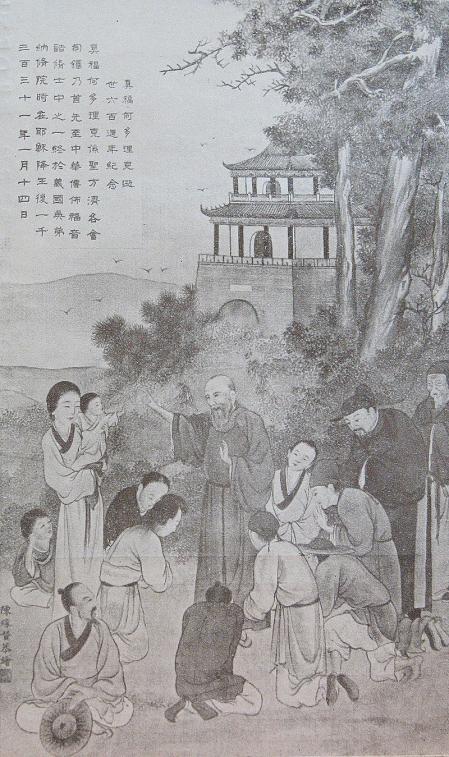 Odorico de Pordenone predicando en China.