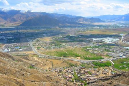 El valle tibetano de Lhasa.