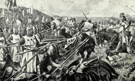 Batalla de Bannockburn (1314), que terminó con victoria escocesa