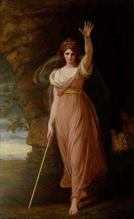 Lady Hamilton como Circe, pintada por Romney en el año 1782.
