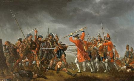 La batalla de Culloden, pintada por David Morier, 1746.