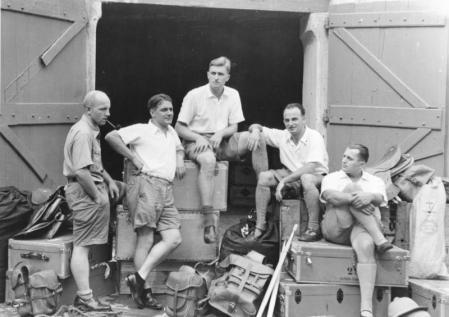 Algunos de los expedicionarios nazis que acudieron al Tíbet.