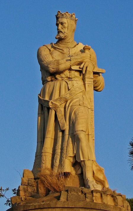 Estatua de Alfonso I El Batallador en el Parque Grande José Antonio Labordeta de Zaragoza.