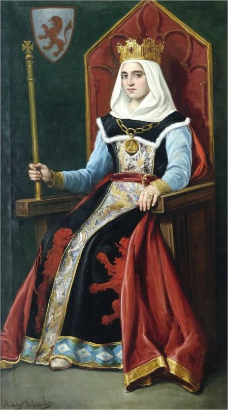 Urraca I de León, pintada por José María Rodríguez de Losada entre 1892-1894.
