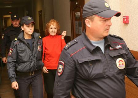 Tamara Samsonova bajo custodia policial
