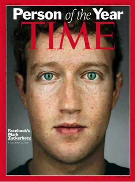 Zuckerberg fue elegido como persona del año para Time