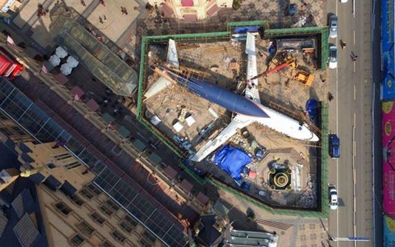 Un Boeing 737 será usado como restaurante en el centro de Wuhan (China)