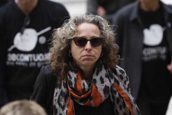 Ester Quintana, la mujer que perdió el ojo por la actuación policial durante la huelga general del 14 de noviembre de 2012 LV