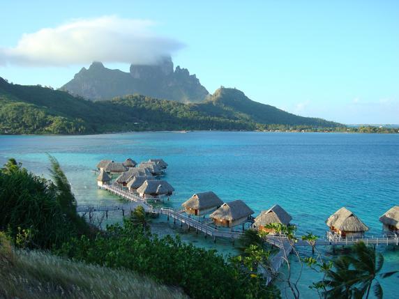 Imagen paradisíaca de la isla de Bora Bora