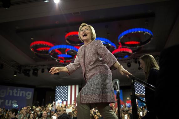 Hillary Clinton se dio un baño de masas de New York