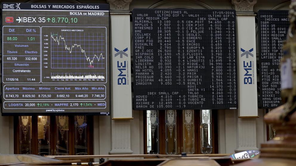 El Ibex 35 se deja más de medio punto y pierde la cota de los 8.700