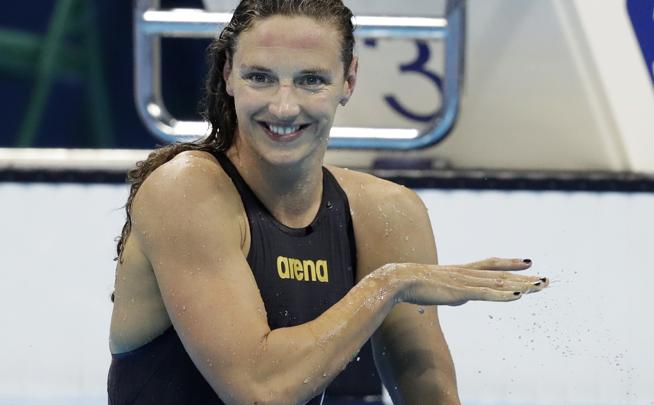 La húngara Katinka Hosszu, récord mundial de natación