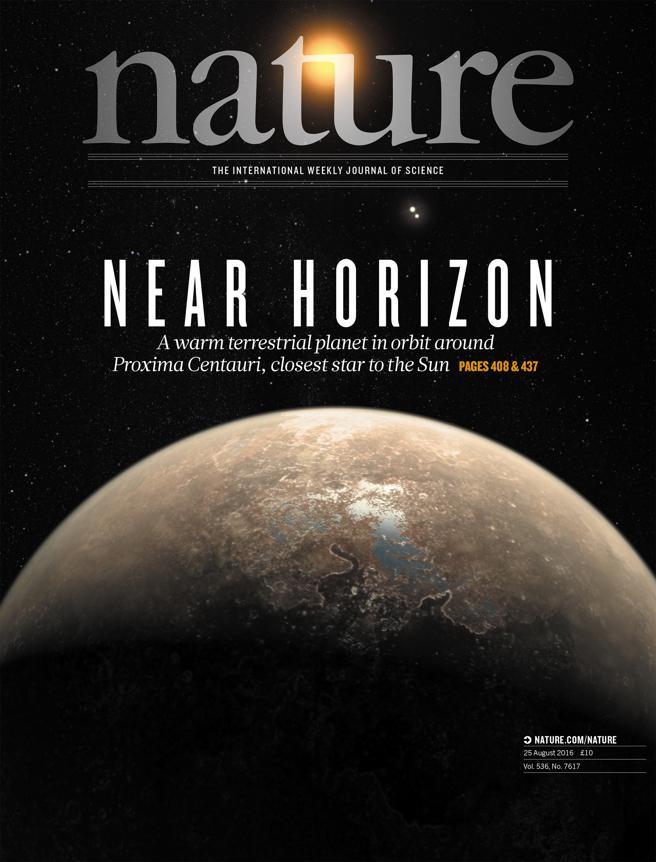 La revista Nature dedica su portada al descubrimiento de Proxima b (Nature)