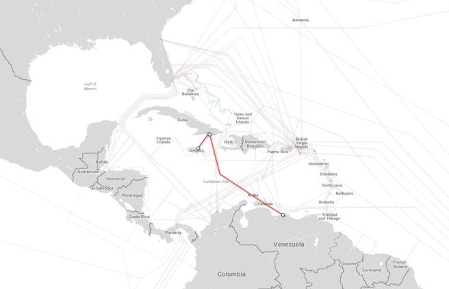 Cables submarinos a Cuba