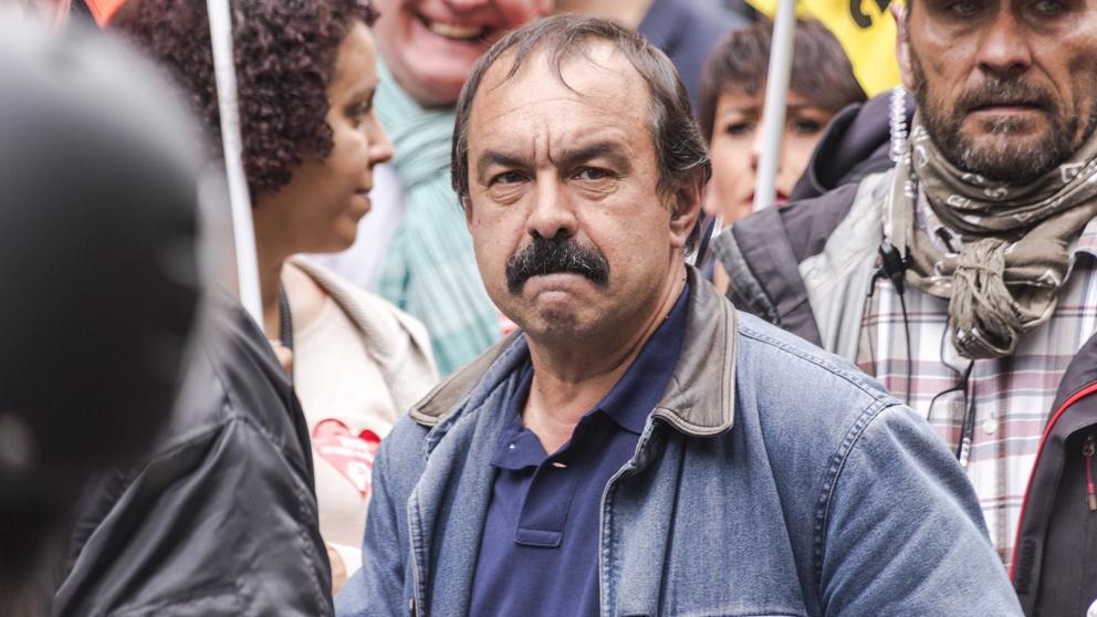 Philippe Martinez, en una manifestación del pasado mes de junio (Bernard Menigault / Getty)