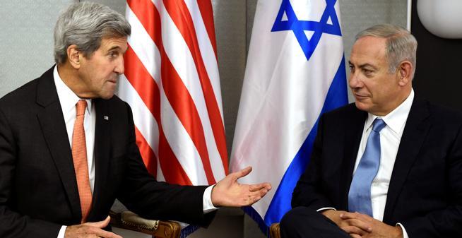 Encuentro entre John Kerry y Benjamín Natanyahu el pasado septiembre