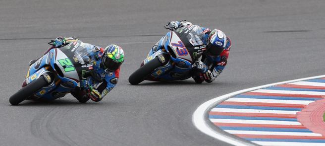 Márquez recortando distancia a Morbidelli.