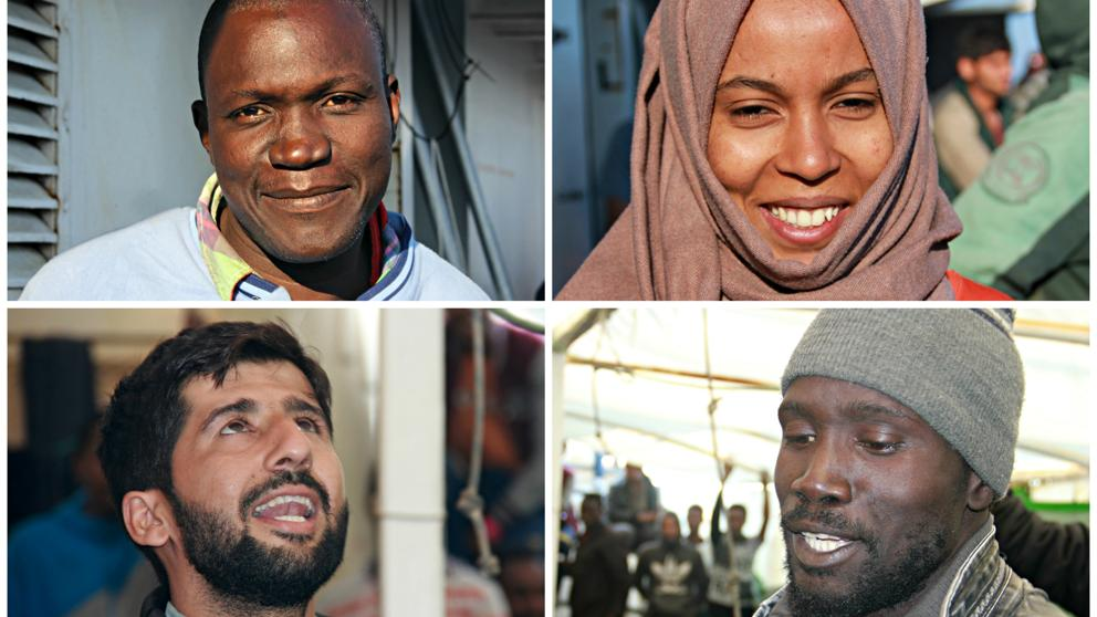 Quienes son los refugiados que huyen de Libia