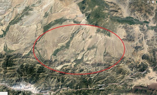 Vista aérea de Achin, en la provincia de Nangarhar, Afganistán