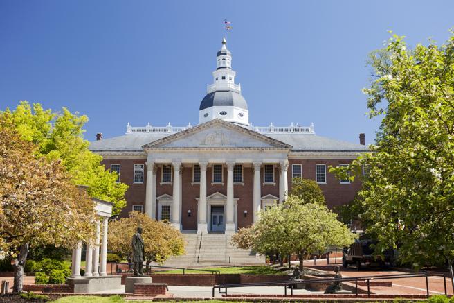 Maryland State House de Annapolis, la sexta casa del Congreso de los EE.UU.