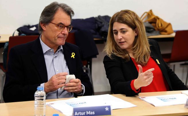 Artur Mas y Marta Pascal en una ejecutiva del PDeCAT