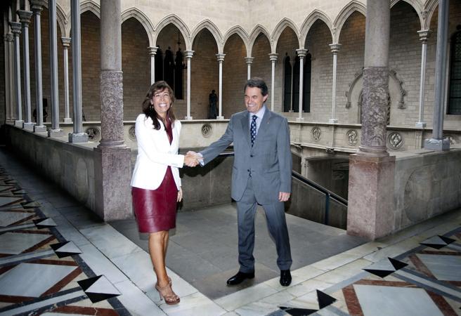 Sánchez Camacho y Mas en Palau