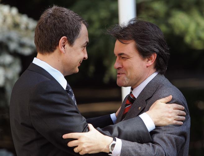 Reunión de Artur Mas y Zapatero en La Moncloa
