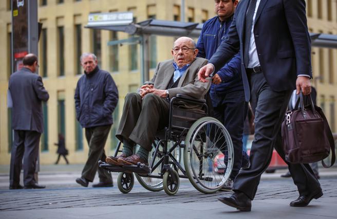 Felix Millet, a su llegada a los juzgados de Barcelona