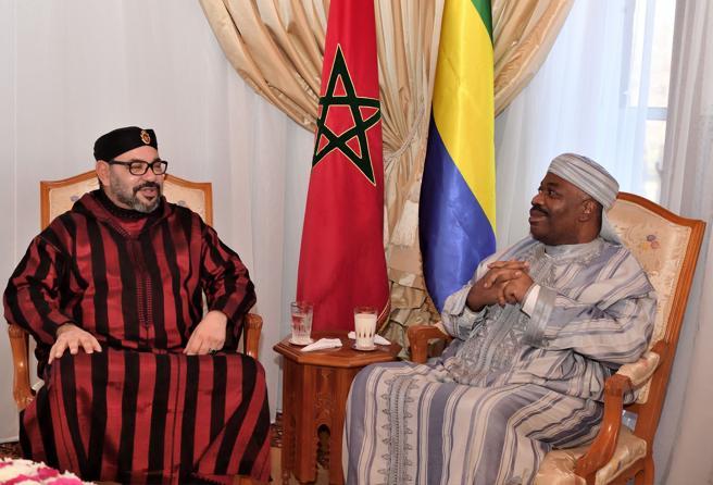 Ali Bongo, junto a Mohamed VI el pasado 3 de diciembre durante una visita del rey de Marruecos al hospital militar de Rabat donde el presidente de Gabón se hallaba ingresado