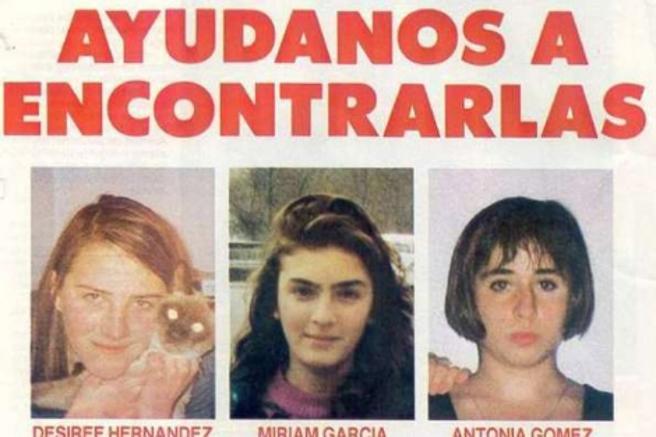 Cartel que se difundió para buscar a las niñas de Alcàsser en 1992