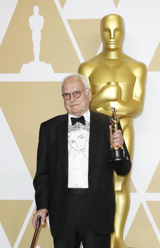 James Ivory en la alfombra roja de los Oscars 2018