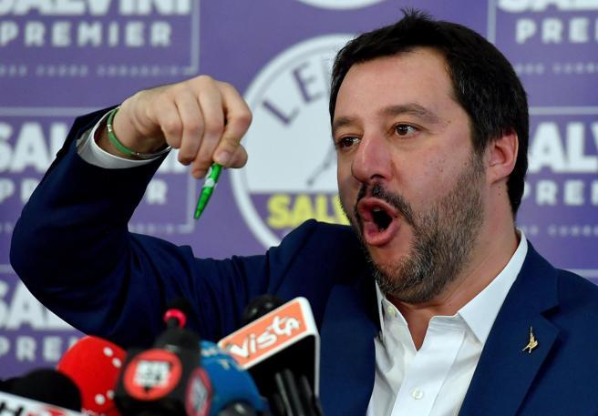 Mateo Salvini, candidato de la Liga Norte (LN) a las elecciones de Italia,
