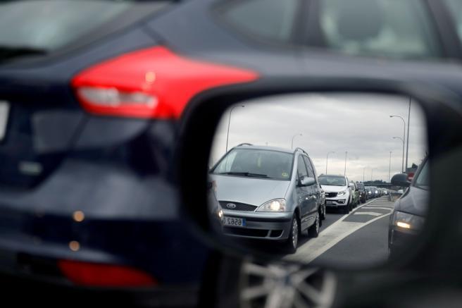 Retenciones de tráfico en los desplazamientos de Semana Santa