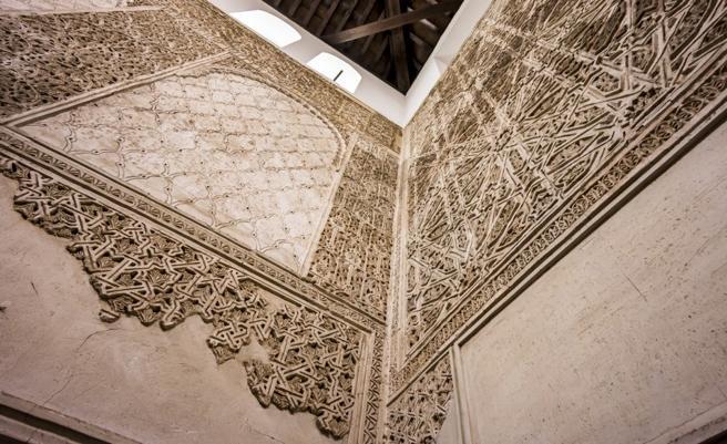 Decoración de una sinagoga cordobesa.