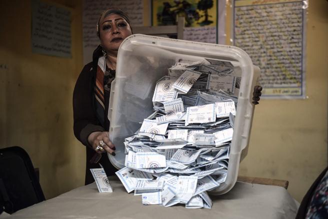 Recuento de votos en El Cairo