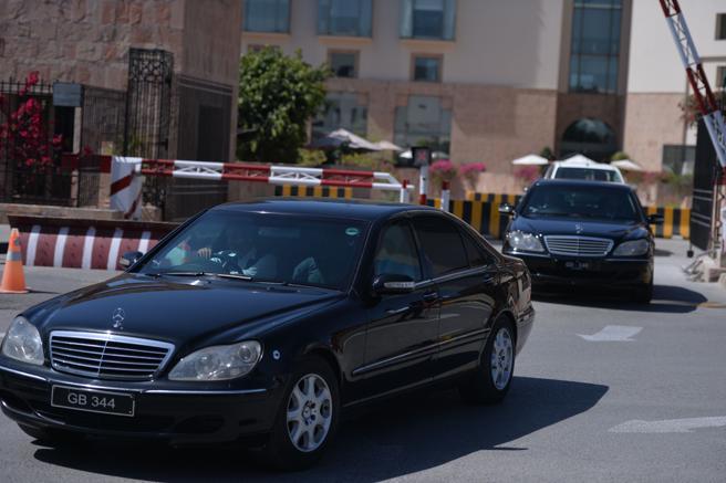 Malala viaja protegida en uno de estos vehículos