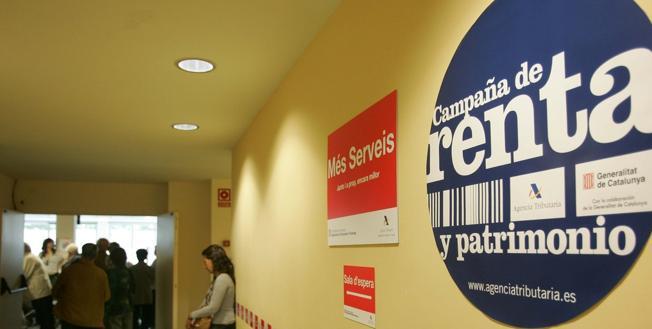 Un cartel que anuncia la campaña de la renta, en una imagen de archivo