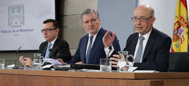 Una rueda de prensa posterior a un Consejo de Ministros
