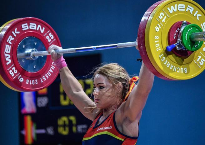 Lydia Valentín en uno de los momentos del ejercicio.