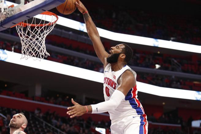Ante la baja de Blake Griffin, André Drummond será la principal referencia interior de los Detroit Pistons