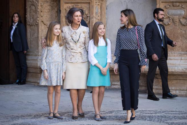 La reina Letizia junto a su familia