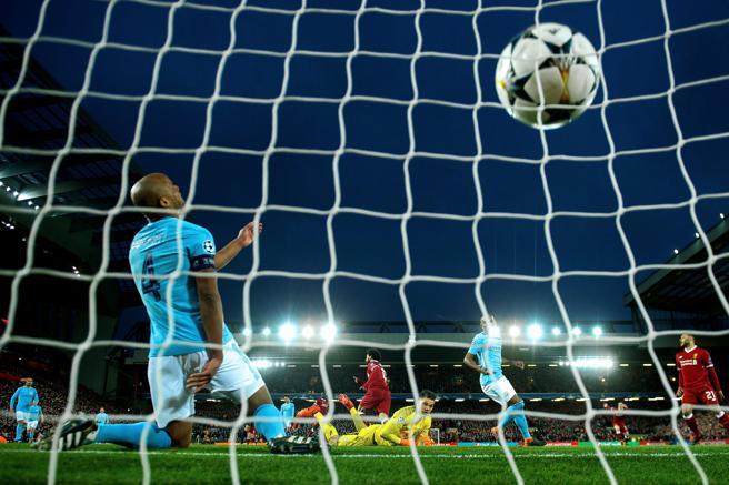 Mohamed Salah ha marcado el primer gol de Liverpool ante el Manchester City