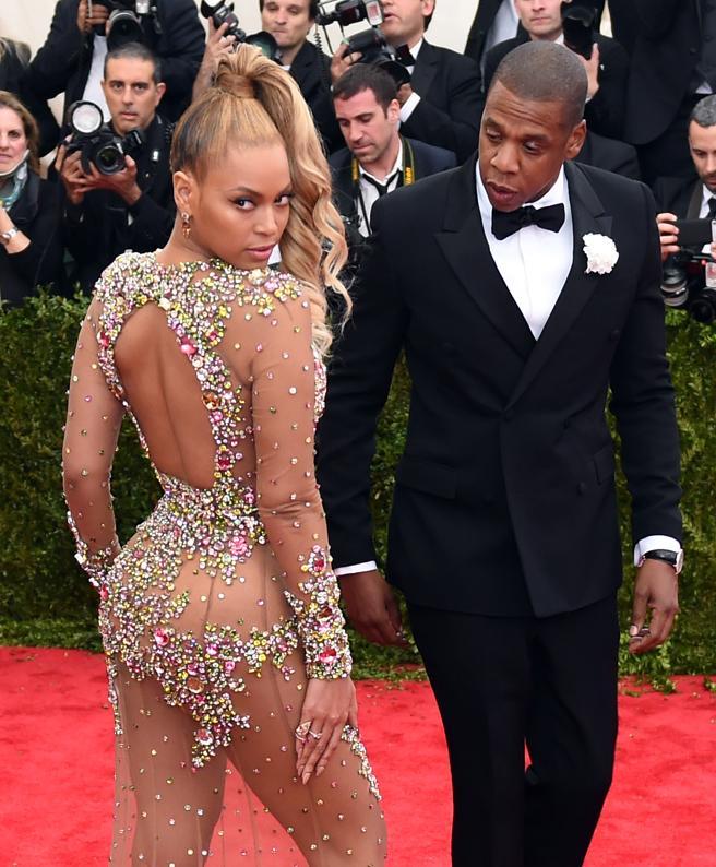 Beyonce y Jay Z en la Gala Met de 2015.