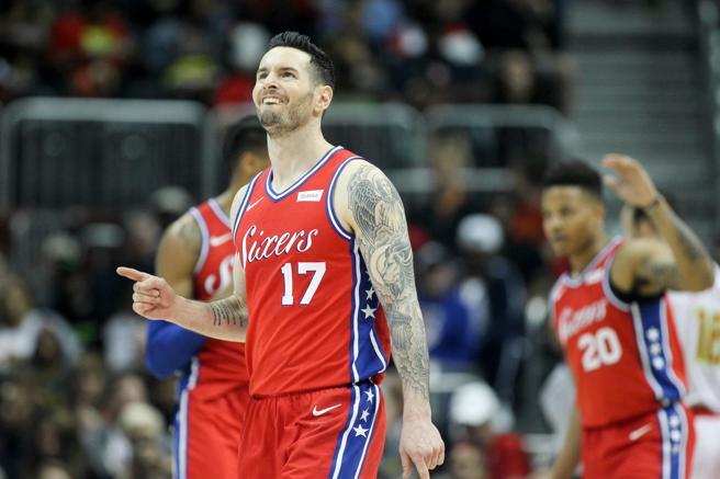 J.J. Redick fue el máximo anotador de los Sixers en el último partido e intentará repetir ante los Pistons.