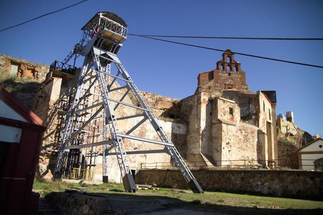 Castillete del pozo San Aquilino en las minas de Almadén